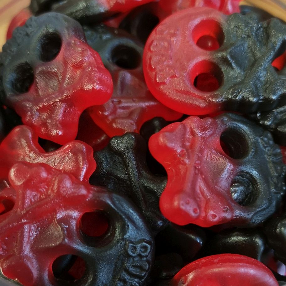 Bubs Raspberry Skulls