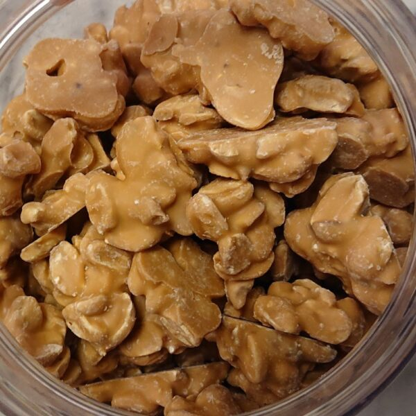 White Chocolate Salted Caramel Peanut Clusters