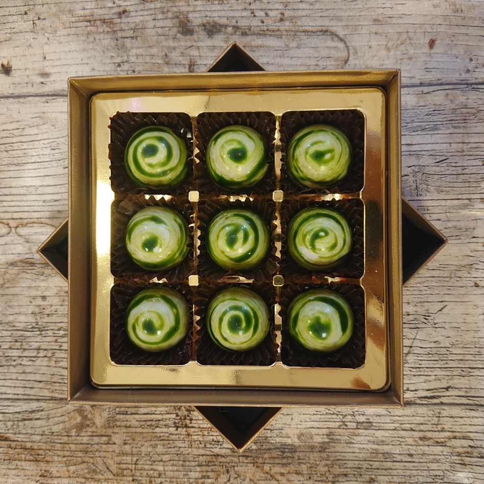 Mint Caramel (9 Chocolate Box)