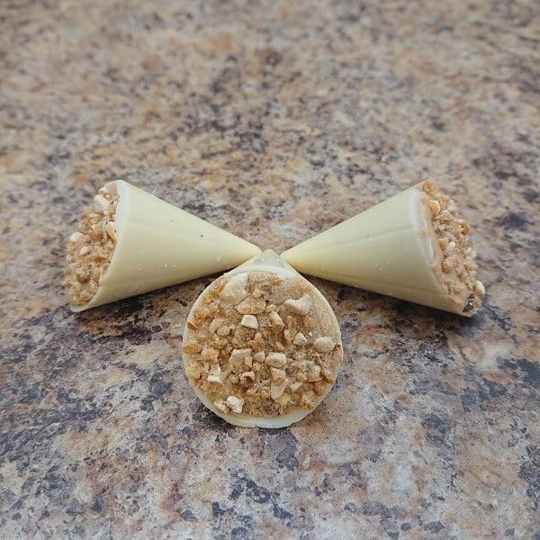 White Praline Cones (9 Chocolate Box)